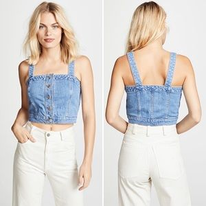 Madewell | Denim Button Crop Top